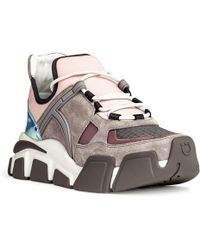 Ferragamo - Cimbra Pink And Silver Trainers - Lyst