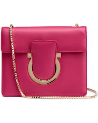 Ferragamo - Thalia Fuchsia Leather Gancini Shoulder Bag - Lyst