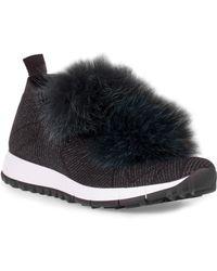 Jimmy choo Norway Pom Pom Sneakers ep4ZD2i