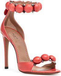 Alaïa - Light Red Bombe Sandals - Lyst