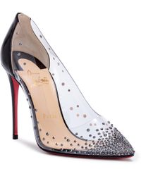 Christian Louboutin - Degrastrass 100 Black Patent Court Shoes - Lyst