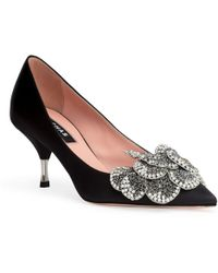Rochas - Black 60 Crystal Embellished Pumps - Lyst