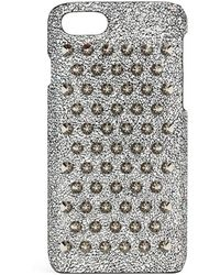 Christian Louboutin - Loubiphone 7 And 8 Silver Spikes Iphone Case - Lyst