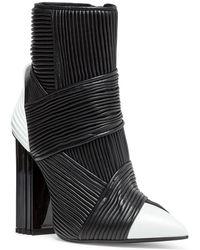 Balmain - Irina Black Leather Boots - Lyst