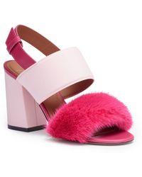 Givenchy - Paris Pink Mink Sandals - Lyst