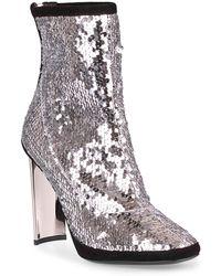 Giuseppe Zanotti - Silver Sequin Ankle Boot - Lyst
