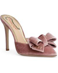 Charlotte Olympia - Dusty Pink 100 Velvet Mules - Lyst