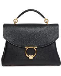 Ferragamo - Gancini Top Handle Bag - Lyst