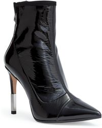 Balmain - Blair 95 Black Patent Ankle Boots - Lyst