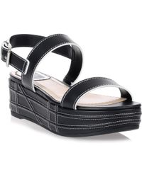 Dior - Yacht Navy Leather Sandal - Lyst