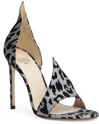Francesco Russo - Leopard 105 Glitter Suede Sandals - Lyst