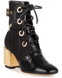 Dior - Glorious Black Leather Ankle Boot - Lyst