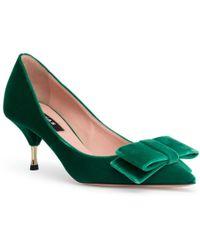 Rochas - Green 60 Velvet Court Shoes - Lyst