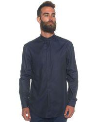 Armani | Shirt With Guru Collar | Lyst