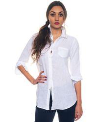 U.S. POLO ASSN. - Suzanne Shirt Ls Long-sleeved Linen Shirt - Lyst