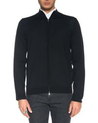 BOSS by Hugo Boss - Cardigan With Double Slide Fastener - Lyst