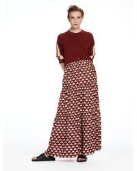 Scotch & Soda - Tiered Maxi Skirt - Lyst