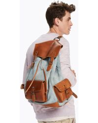 Scotch & Soda | Suede & Leather Backpack | Lyst