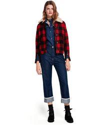 Scotch & Soda - Cropped Extra Boyfriend Jeans - Blauw District - Lyst