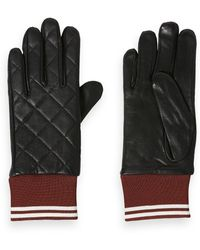Scotch & Soda - Quilted Leather Gloves - Lyst