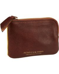 Scotch & Soda - Leather & Suede Coin Wallet - Lyst