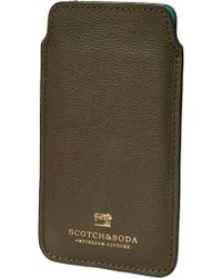 Scotch & Soda - Leather Iphone 6 Sleeve - Lyst