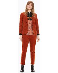 Scotch & Soda - Embroidered Corduroy Blazer - Lyst