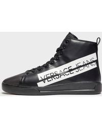 Versace Jeans - Logo High Top Trainers - Lyst