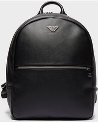 5d4e43261658 Lyst - Emporio Armani Stripe Backpack in Black for Men