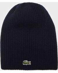Lacoste - Pip Beanie Hat - Lyst