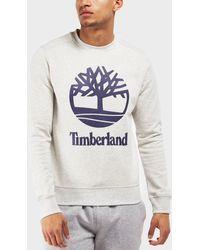 Timberland - Crew Stacked Sweatshirt - Online Exclusive - Lyst