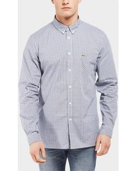 Lacoste - Poplin Check Long Sleeve Shirt - Online Exclusive - Lyst