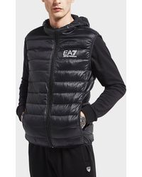 EA7 - Core Hooded Gilet - Lyst