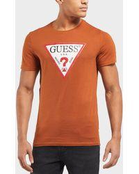 Guess - 3d Printed Logo Short Sleeve T-shirt - Lyst