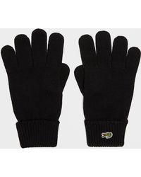 Lacoste - Crocodile Ski Gloves - Lyst