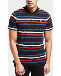 Lacoste - Stripe Short Sleeve Polo Shirt - Lyst