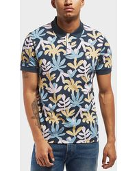 Pretty Green - Leaf Short Sleeve Polo Shirt - Online Exclusive - Lyst