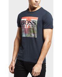 BOSS - Palm Short Sleeve T-shirt - Lyst