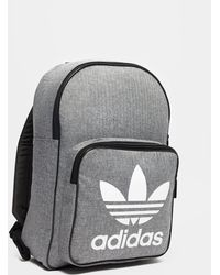 4a887cf9bb Adidas Originals Classic Backpack in Gray for Men - Lyst