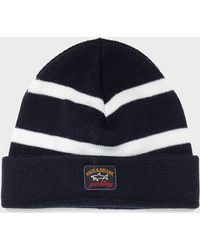 Paul & Shark - Stripe Beanie - Lyst