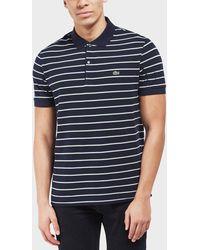Lacoste - Pique Stripe Short Sleeve Polo Shirt - Lyst