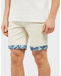 Pretty Green - Beaufort Paisley Turn Up Shorts - Exclusive - Lyst