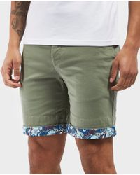 Pretty Green | Beaufort Paisley Turn Up Shorts - Exclusive | Lyst