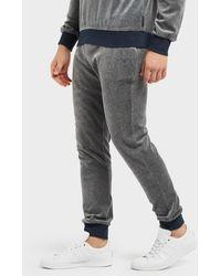 Emporio Armani - Velour Cuffed Track Pants - Lyst