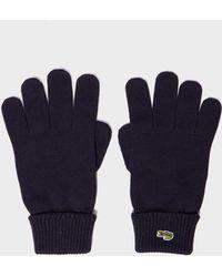 Lacoste - Rib Glove - Lyst