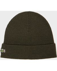 Lacoste - Knitted Hat - Lyst