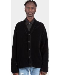 Our Legacy - Charcoal Chenille Flatlock Cardigan - Lyst