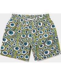 9947ffe41e0e6 Calvin Klein Neon Placed Logo Swim Shorts in Yellow for Men - Lyst