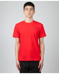 COMME DES GARÇONS PLAY - Red Play T-shirt With Double Heart - Lyst