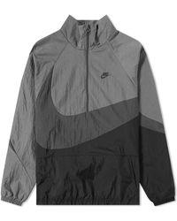 Nike - Nsw Vw Swoosh Woven Half Zip Jacket - Lyst
